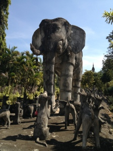 Elephant and Dogs