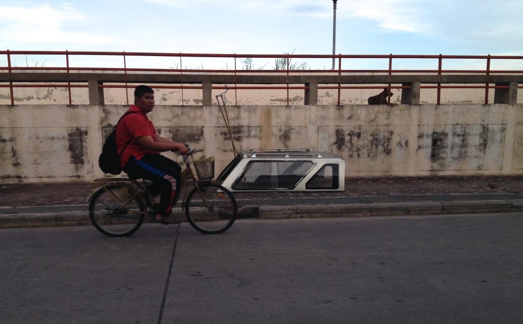 Cyclist, Wilai Chit Road, Singburi