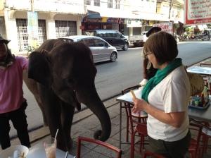 A baby begging in Nhong Khai