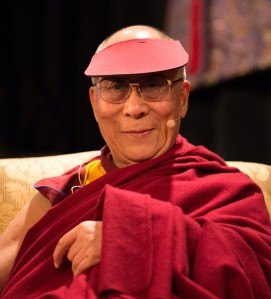 His Holiness, The Fourteenth Dalai Lama At_the_Unsung_Heroes_of_Compassion_event_San_Francisco by Minette - Flickr: [1]. Licensed under CC BY 2.0 via Wikimedia Commons.