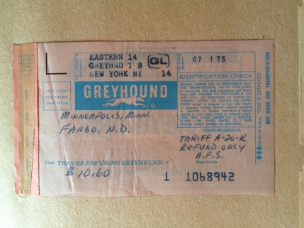 Greyhound bus ticket