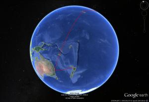 Napier-Auckland-Sydney-Honolulu
