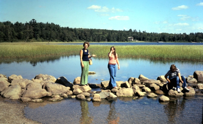 My host mother and me at the source of the Mississippi, August 1975