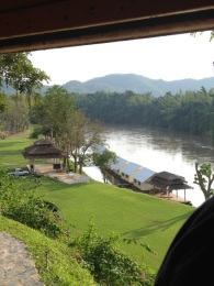 The view from the train over The River Kwai
