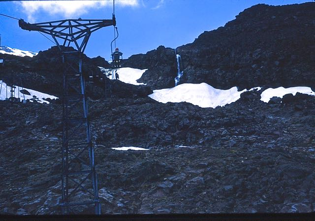 Snow on Mount Ruapheu, New Zealand,  1973