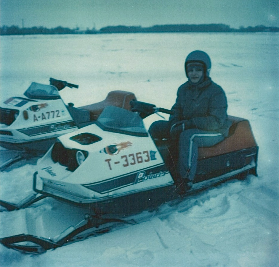 Me on a snowmobile, winter of 75-76