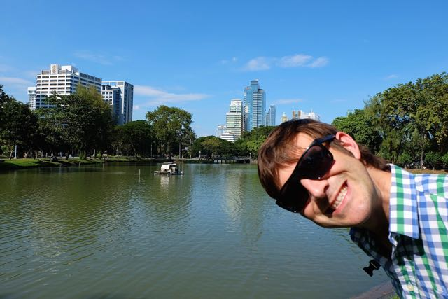 Great photo of the lake in Lumphini Park, Bangkok