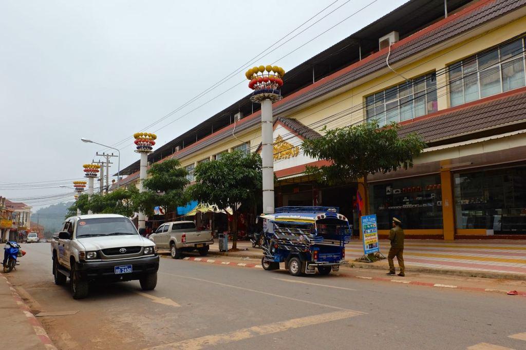 The street near the morning market