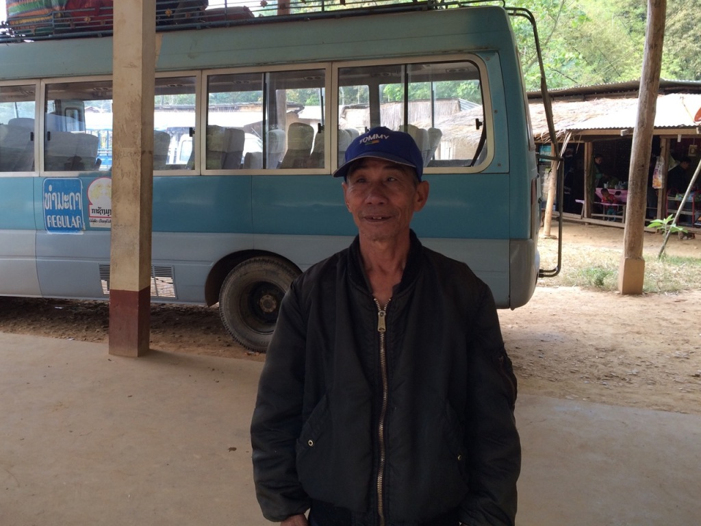 The kind - hearted and friendly bus station manager at Muang Khua
