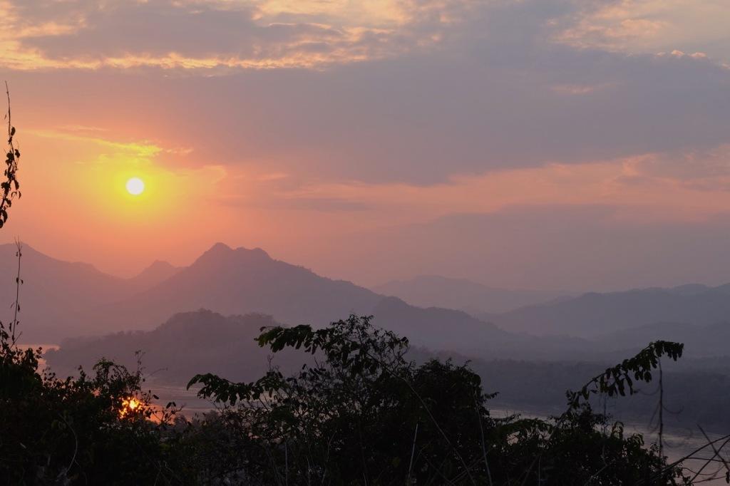 Sunset from Mount Phusi, Luang Prabang