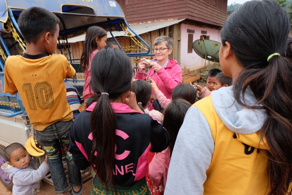 Mobbed by village kids near Luang Namtha