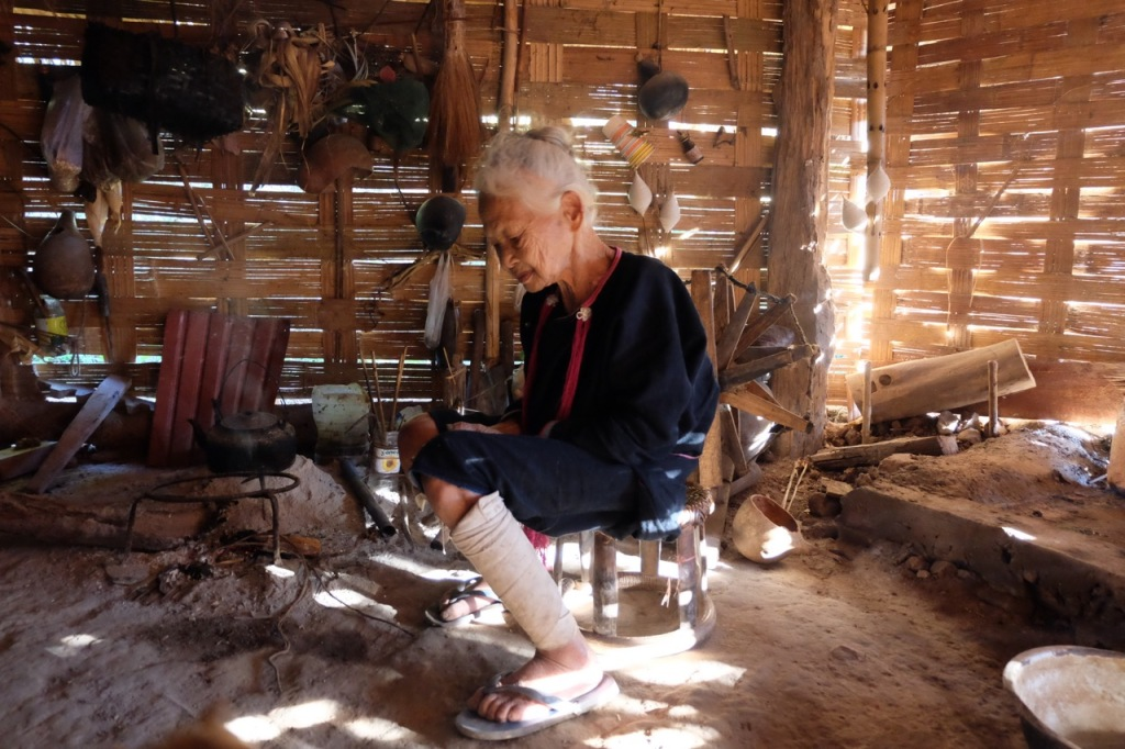 Lanten great-grandmother in her kitchen area