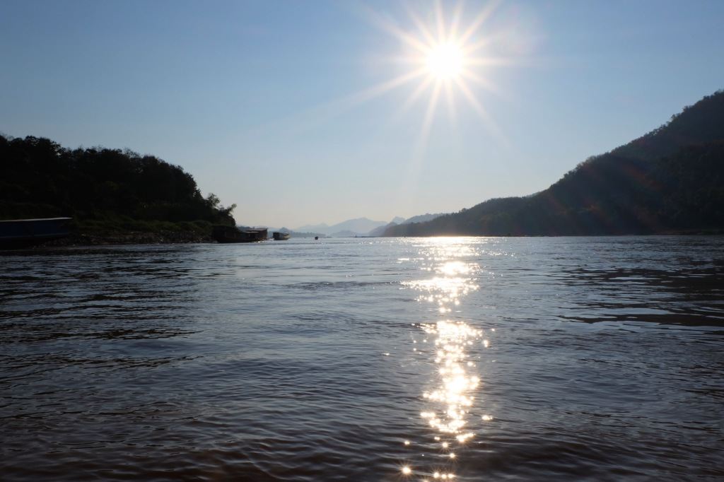 Approaching the river port near Luang Prabang