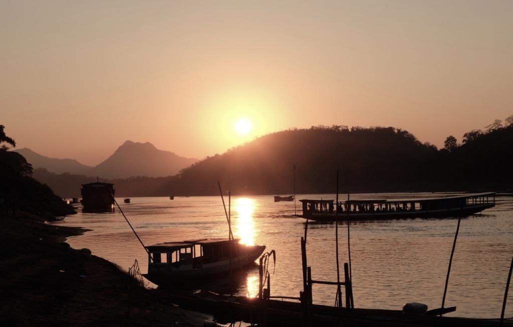 Sunset on the Mekong at Luang Praban