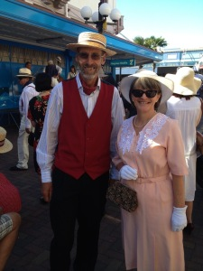 John and me all dressed up for Art Deco Weekend