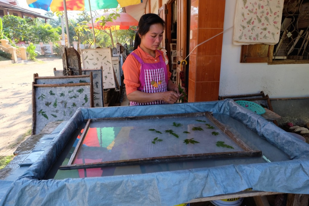 Traditional paper-making