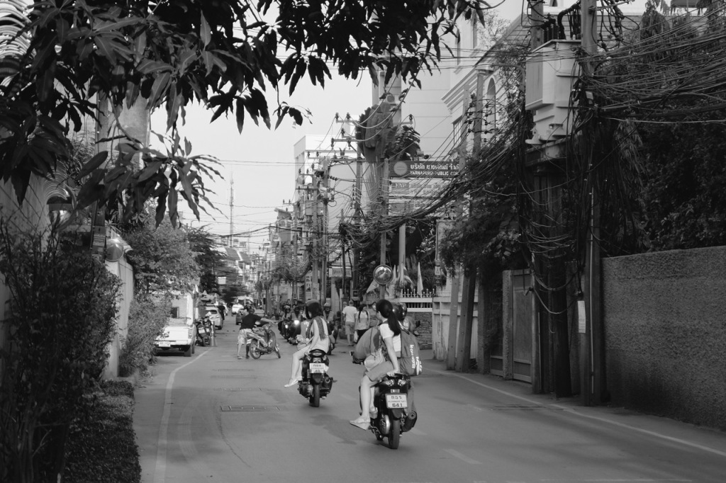 Motorbike Taxis, Soi 81, Bangkok
