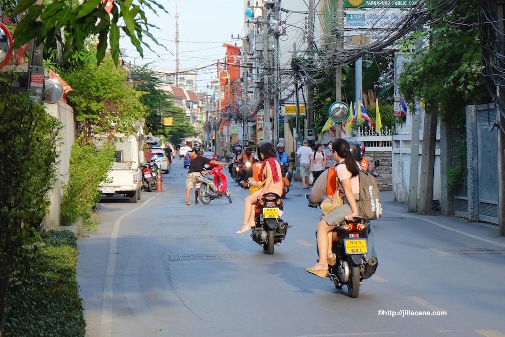Motorbike taxis on Soi 81