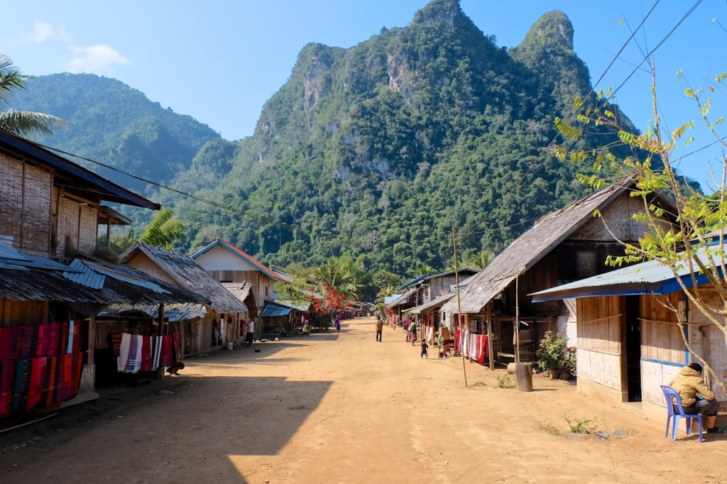 A typical weaving village