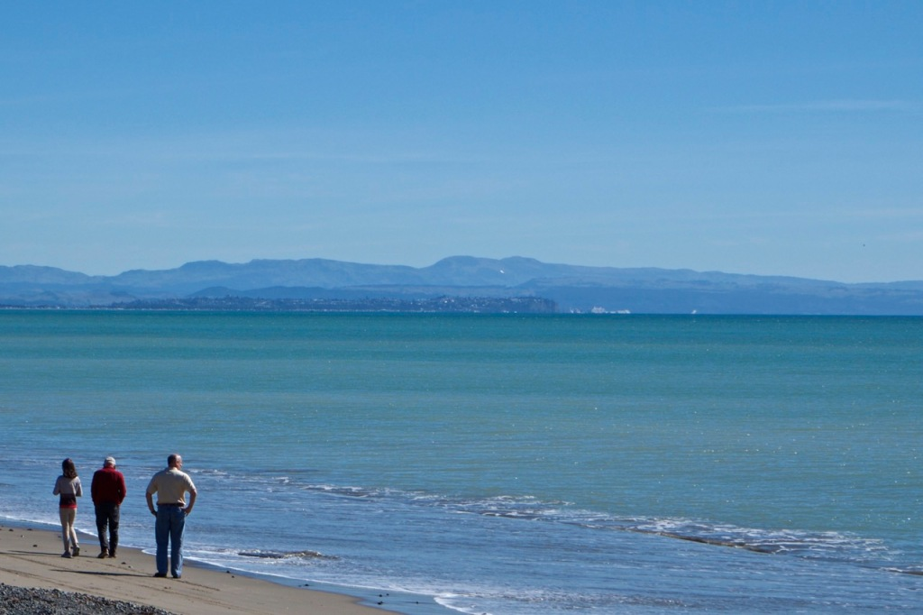 Looking towards Napier, across Hawke Bay