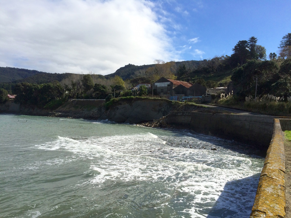 The cliffs of Tokomaru Bay - looking back in the direction of the township. Photo supplied by John.