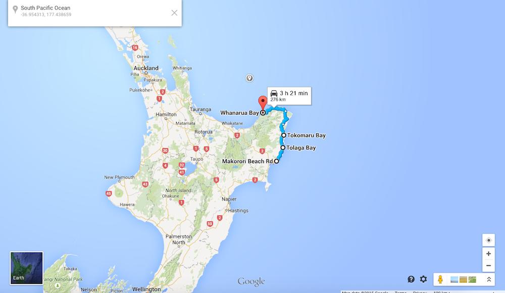 Road trip, Day four: Makorori to Whanarua Bay