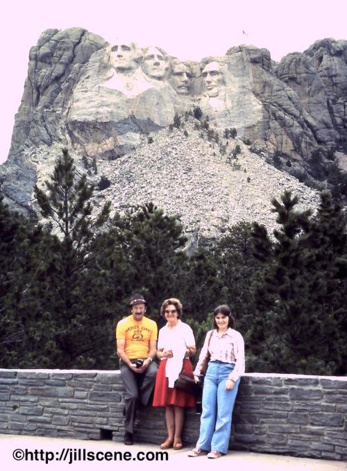 Dad, Mum, and me at Mount Rushmore