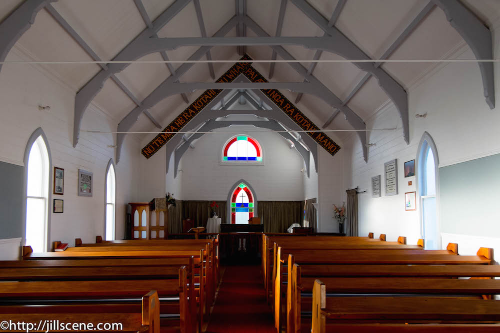 Interior of Christ Church, Ruakokore