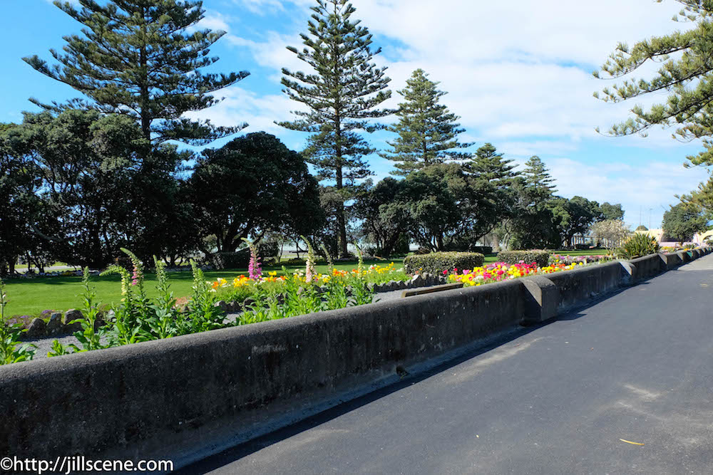 Old sea wall, Marine Parade, Napier