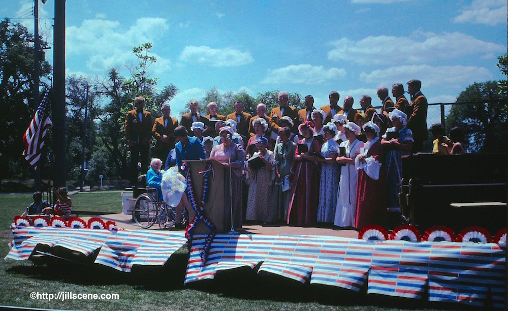 Speeches, singing, celebrations, July 4th, 1976