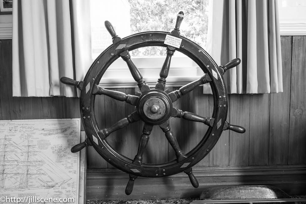 Steering wheel from the steam trawler, Akina