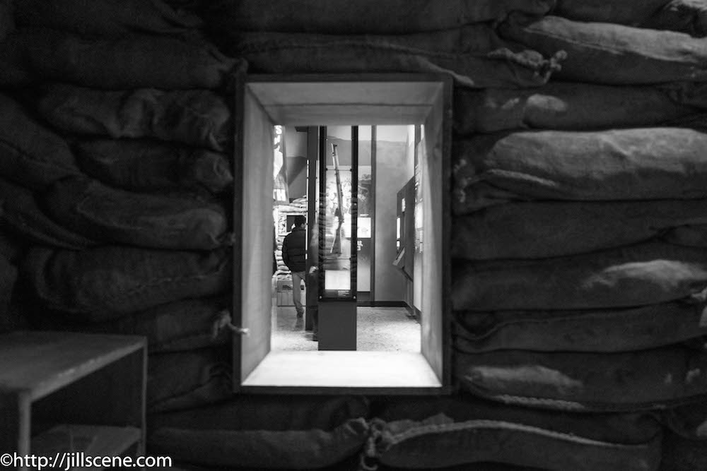 Inside Malone's hut, Gallipoli, the Scale of Our War