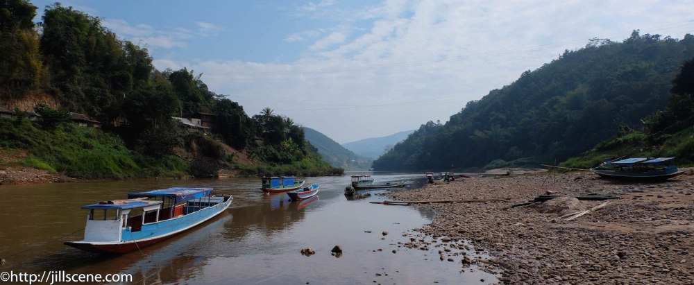 The Nam Ou River at Muang Khua, Northern Laos