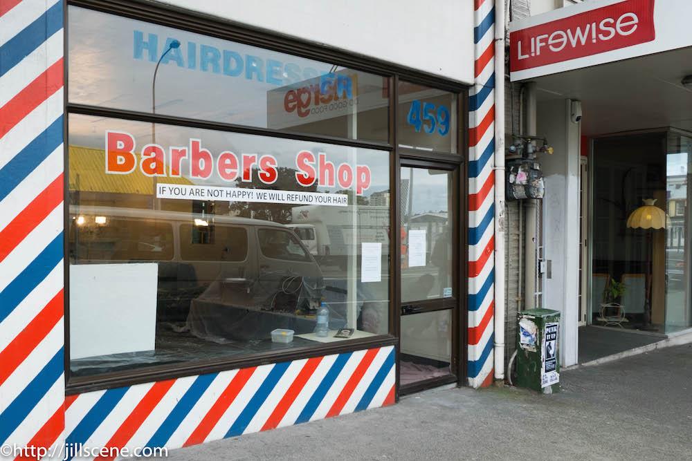 Barbers Shop, K Road, Auckland, New Zealand