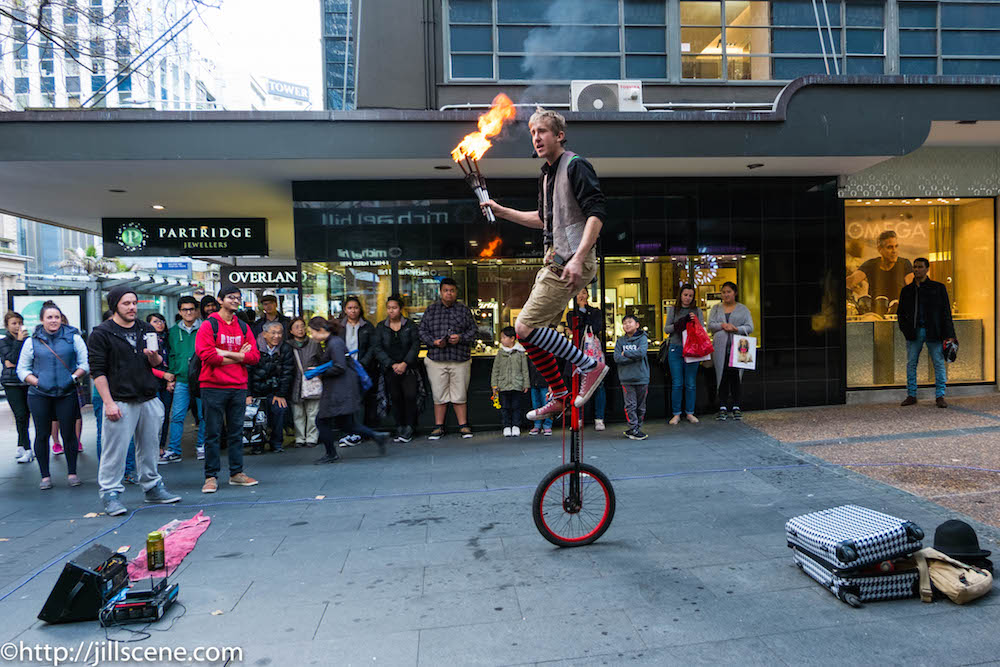 Street entertainer, Queen Street, Auckland
