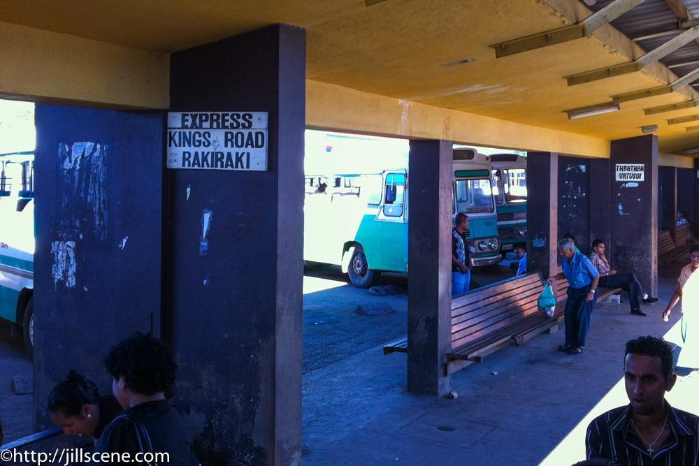 RakiRaki bust staion, Kings Road, Viti Levu, Fiji