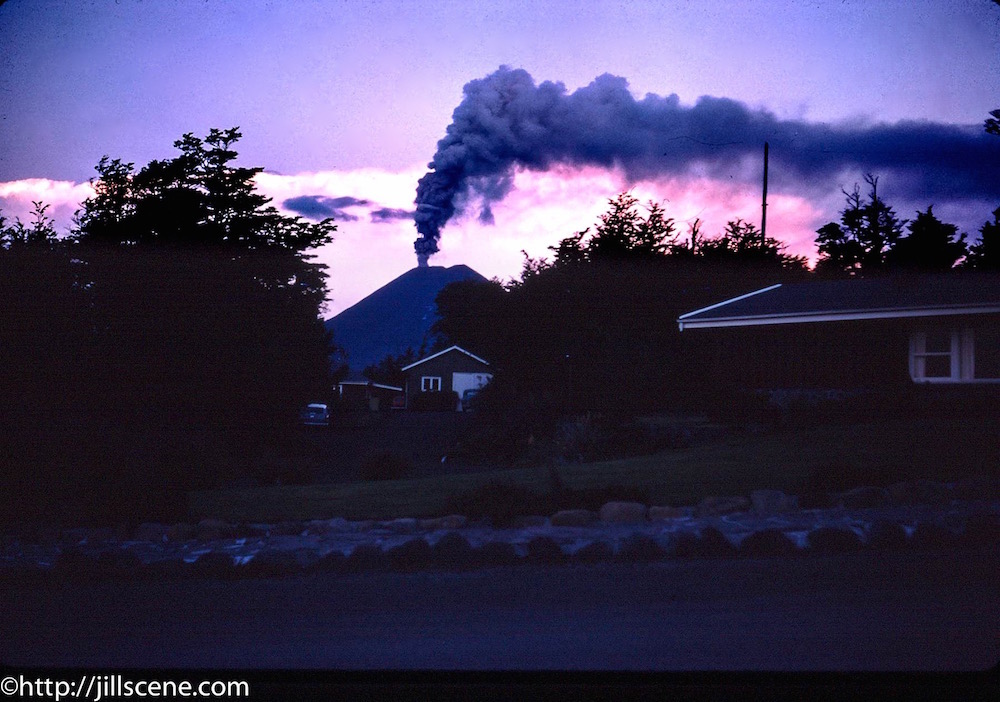 Eruption, Mount Ngauruhoe, early 1970s