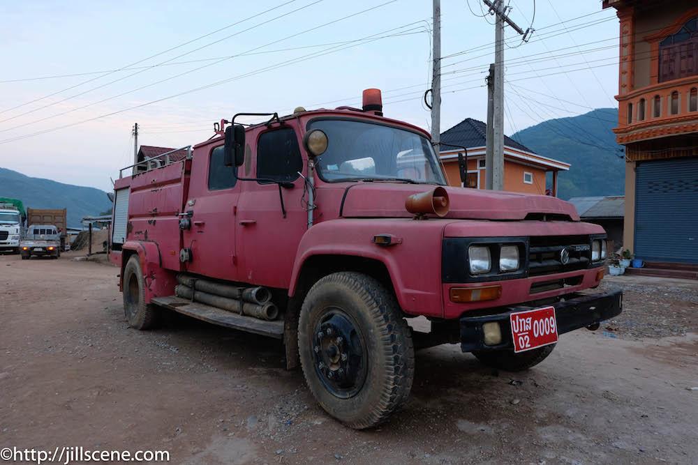 Fire truck, Muang Khua, Phongsaly Province, Northern Laos