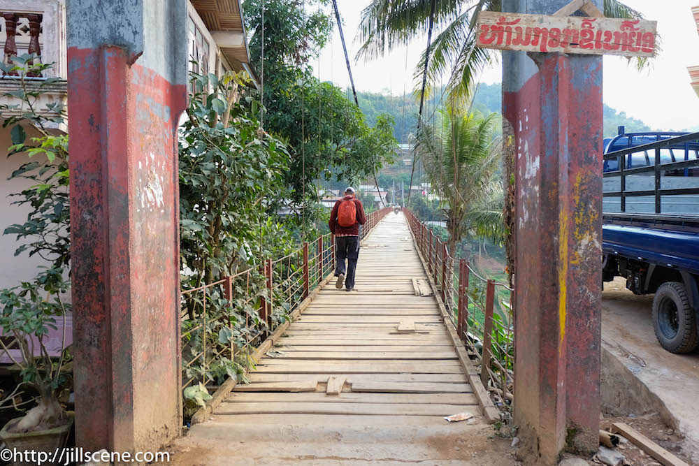 Footbridge in Muang Khua