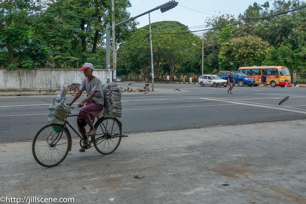 Balancing the news, Yangon, Myanmar